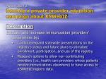 action item 2 develop a private provider education campaign about kswebiz