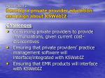 action item 2 develop a private provider education campaign about kswebiz10