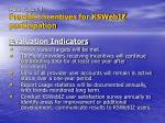 action item 4 provide incentives for kswebiz participation22