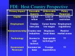 fdi host country perspective