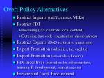 overt policy alternatives
