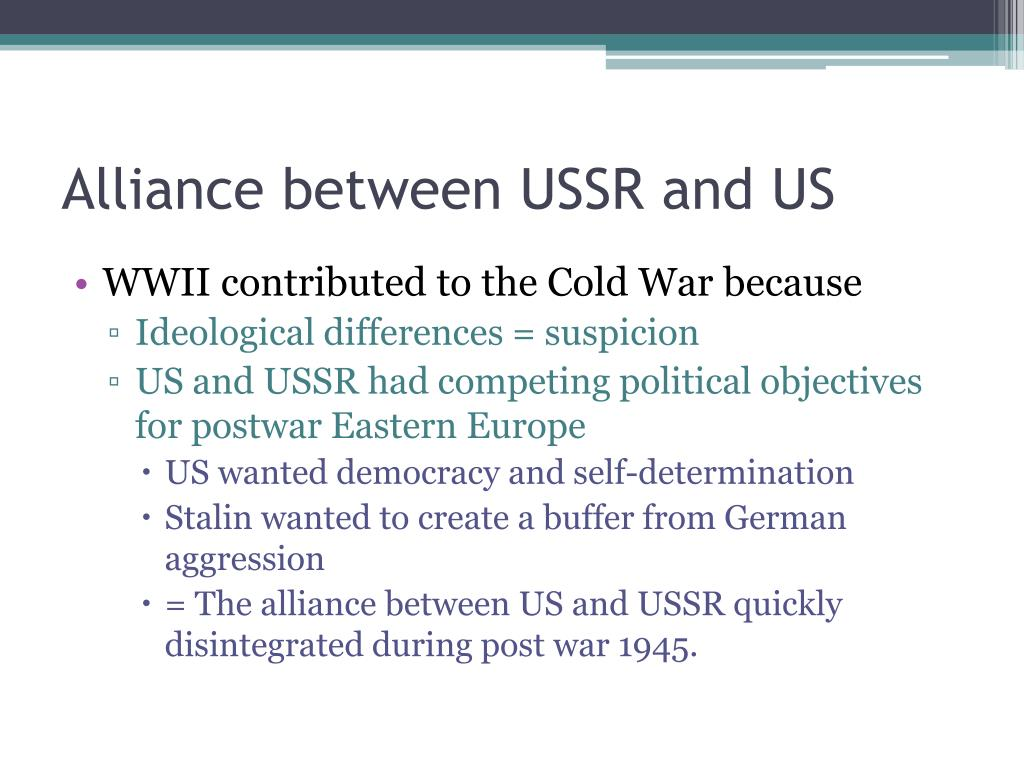 Alliance between USSR and US