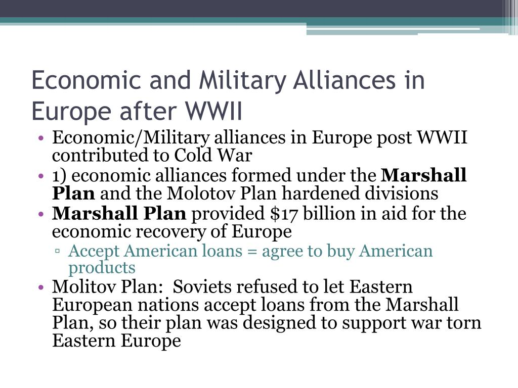 Economic and Military Alliances in Europe after WWII