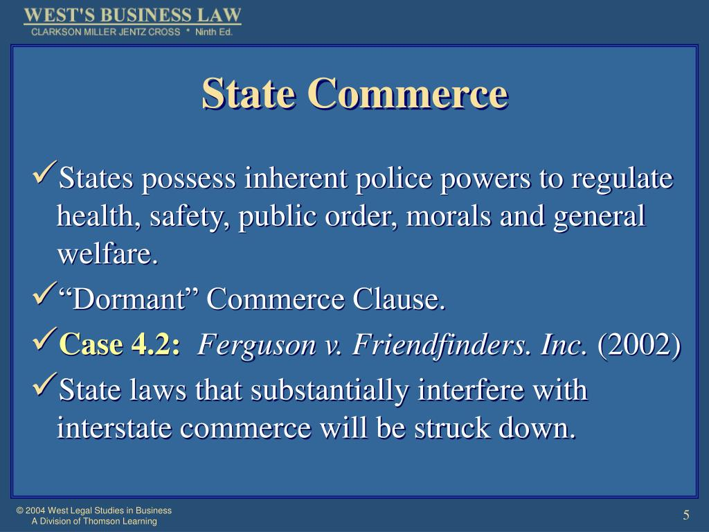 State Commerce