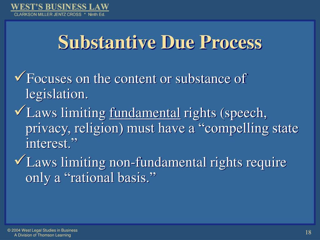 Substantive Due Process