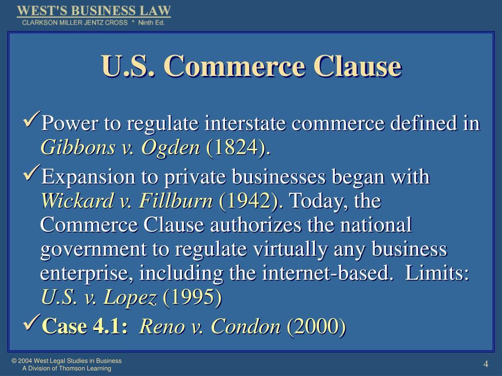 U.S. Commerce Clause