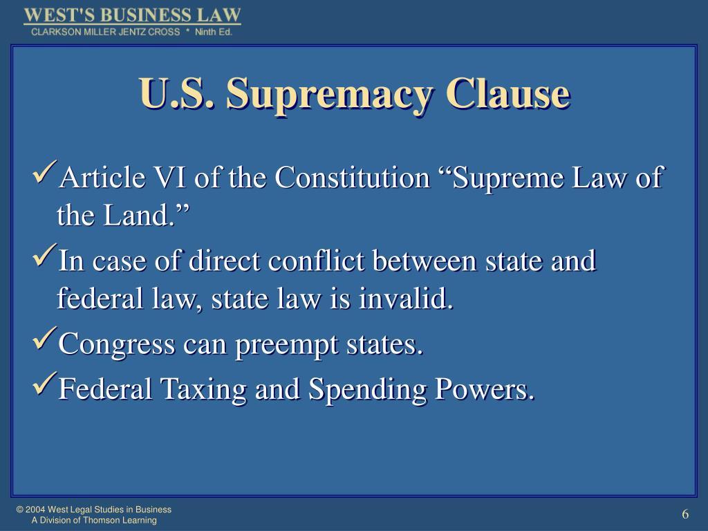 U.S. Supremacy Clause