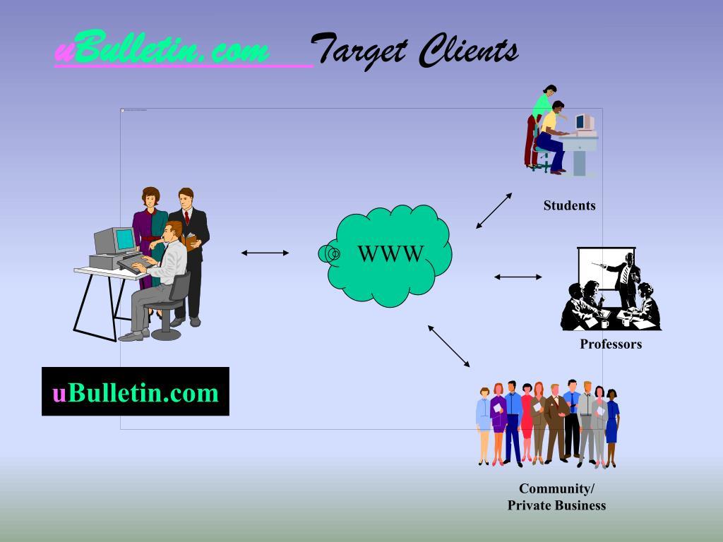 u bulletin com target clients l.