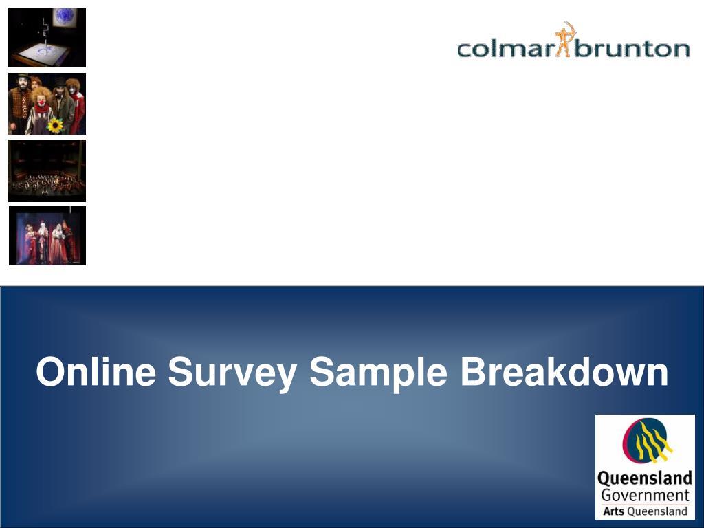 Online Survey Sample Breakdown
