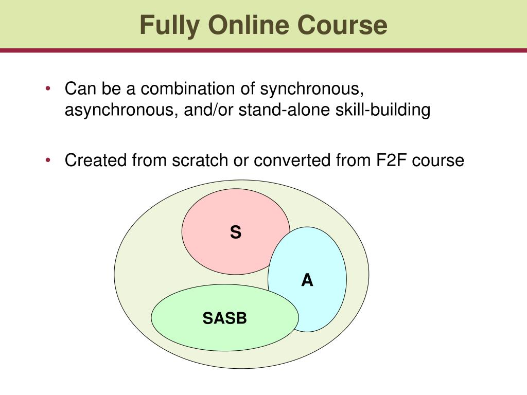 Fully Online Course