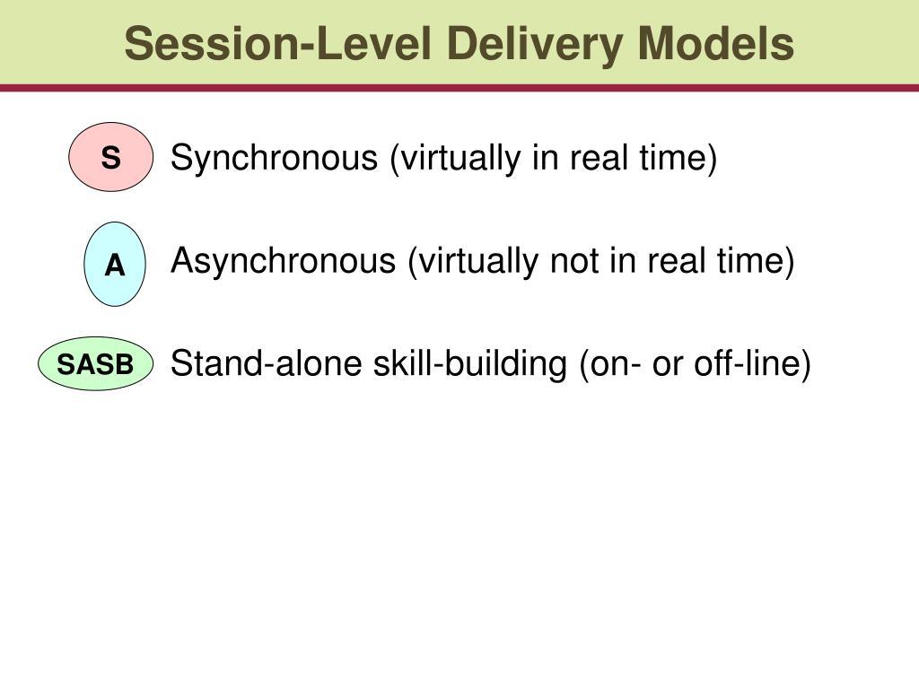 Session-Level Delivery Models