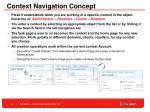 context navigation concept