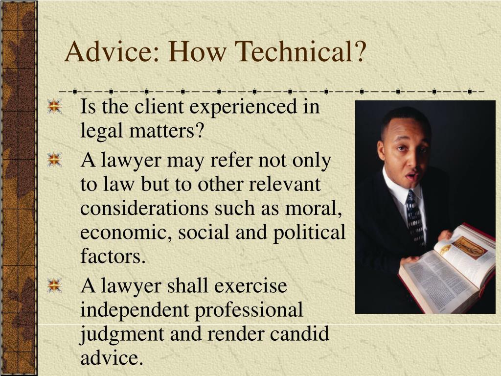 Advice: How Technical?