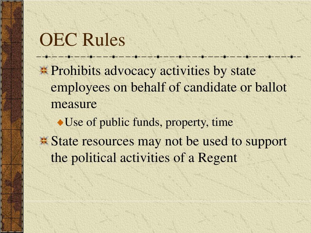 OEC Rules