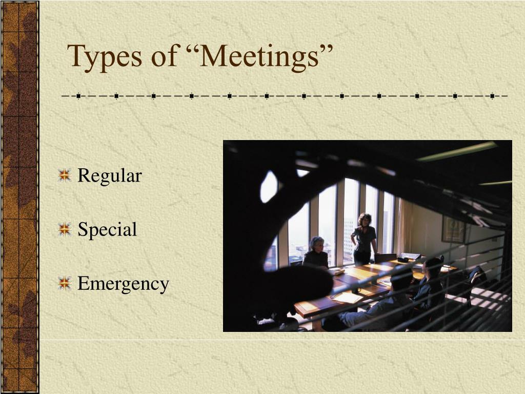 """Types of """"Meetings"""""""