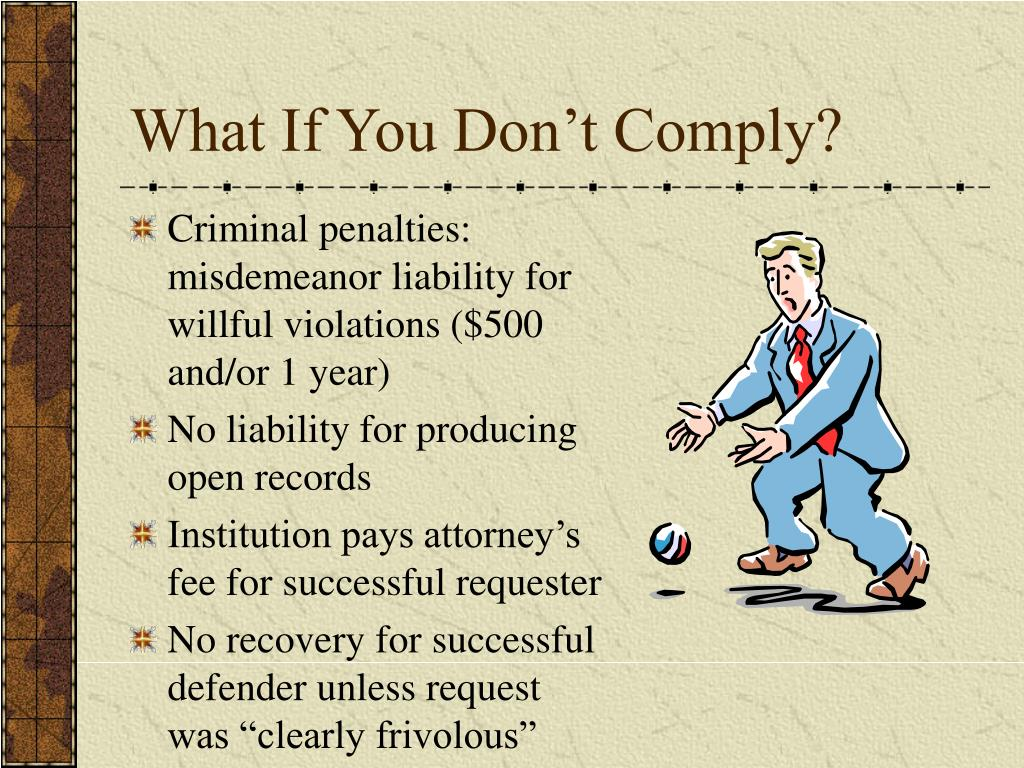 What If You Don't Comply?