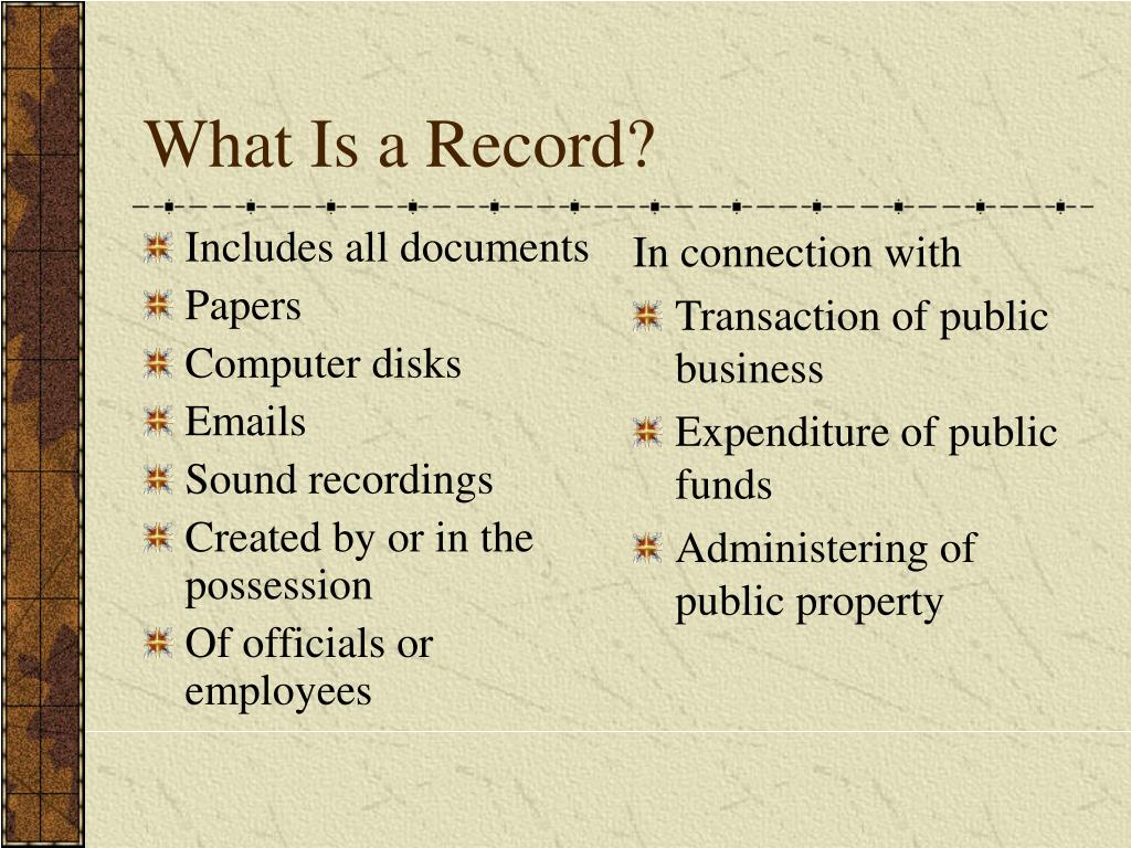 Includes all documents