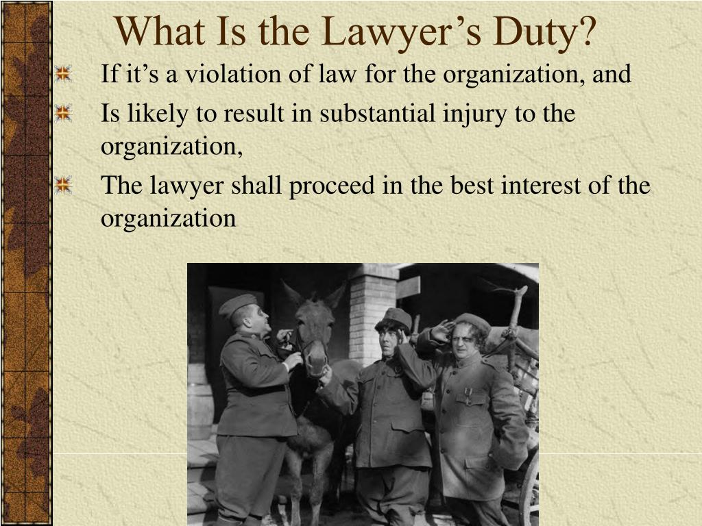 What Is the Lawyer's Duty?