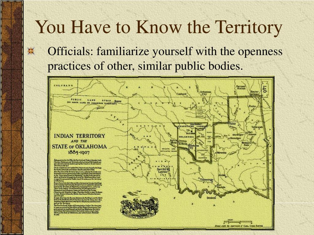 You Have to Know the Territory