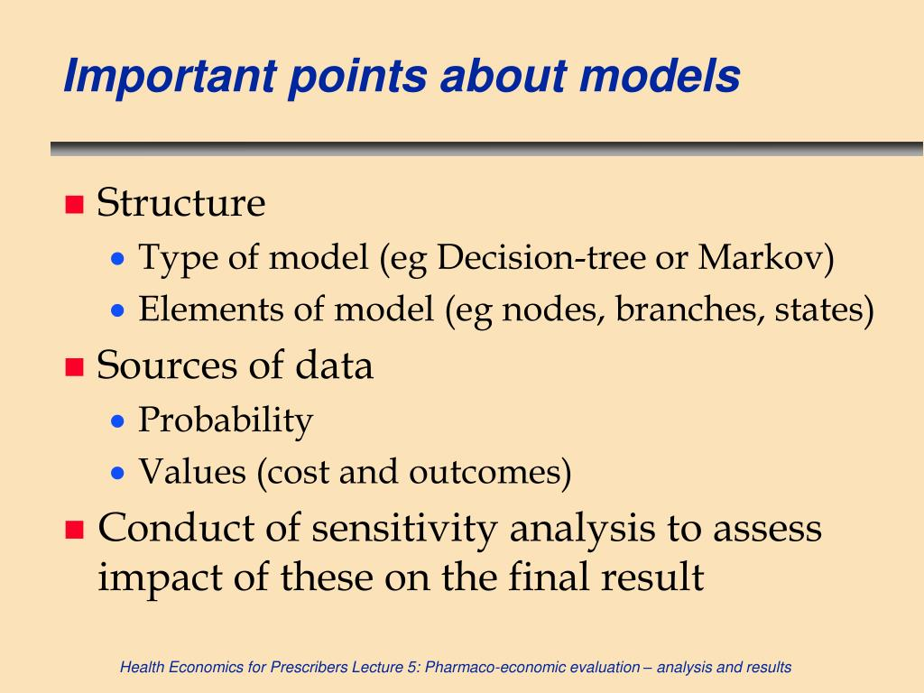 Important points about models