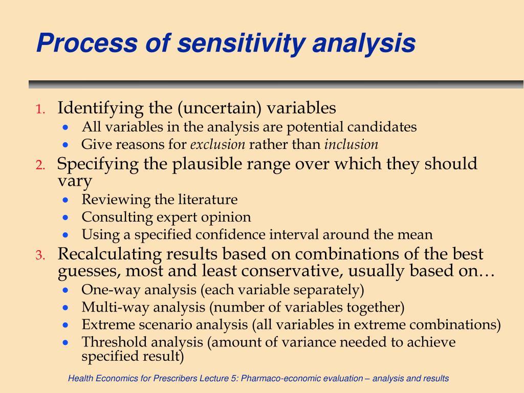 Process of sensitivity analysis
