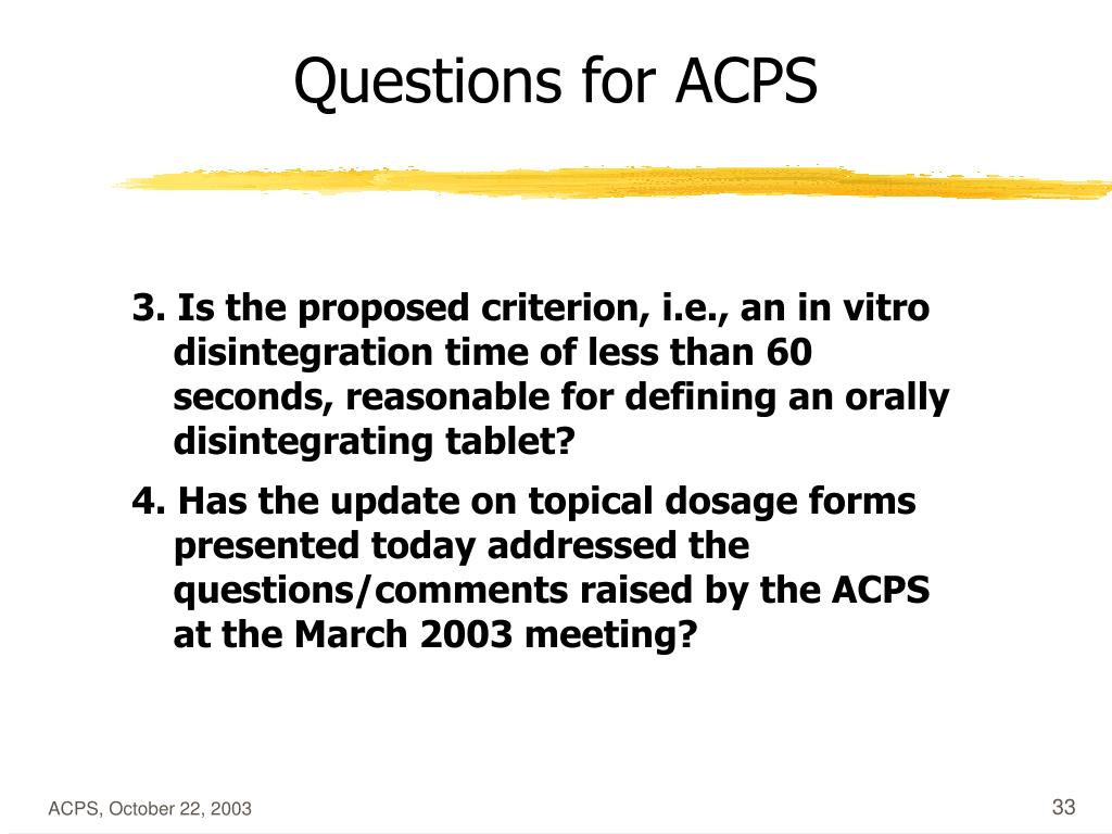 Questions for ACPS