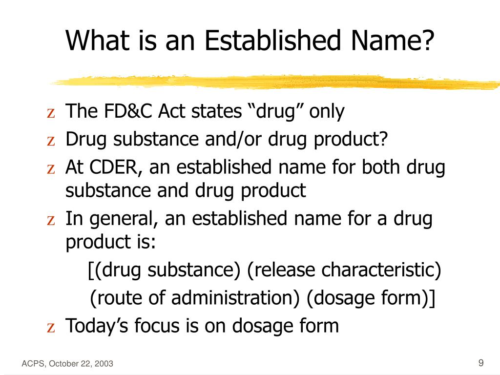 What is an Established Name?