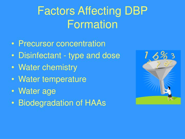 Factors Affecting DBP Formation
