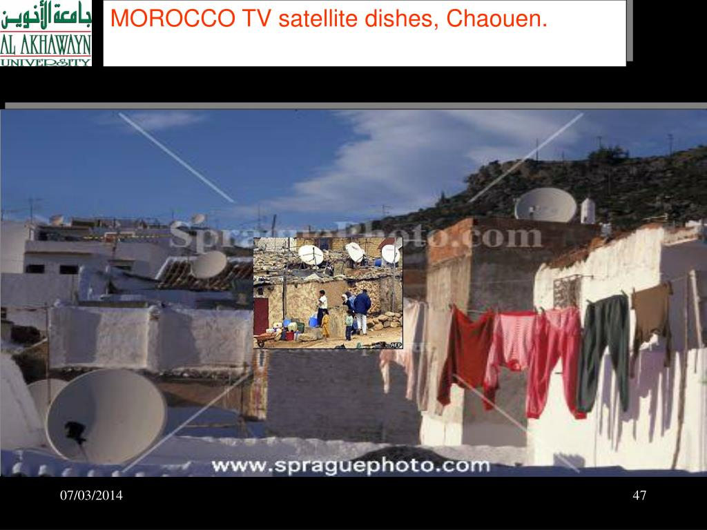 MOROCCO TV satellite dishes, Chaouen.