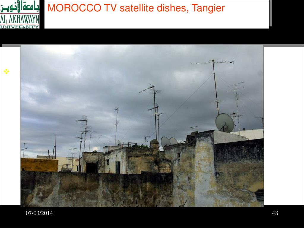 MOROCCO TV satellite dishes, Tangier