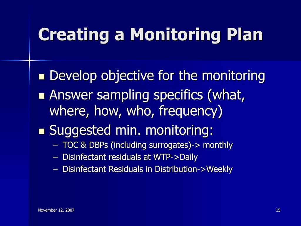 Creating a Monitoring Plan