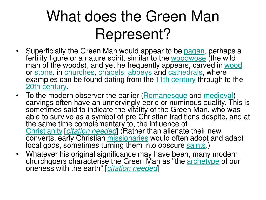 What does the Green Man Represent?