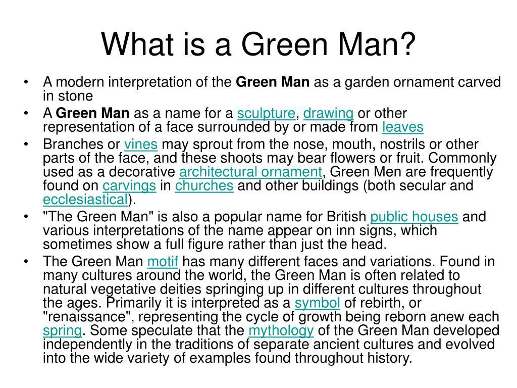 A modern interpretation of the