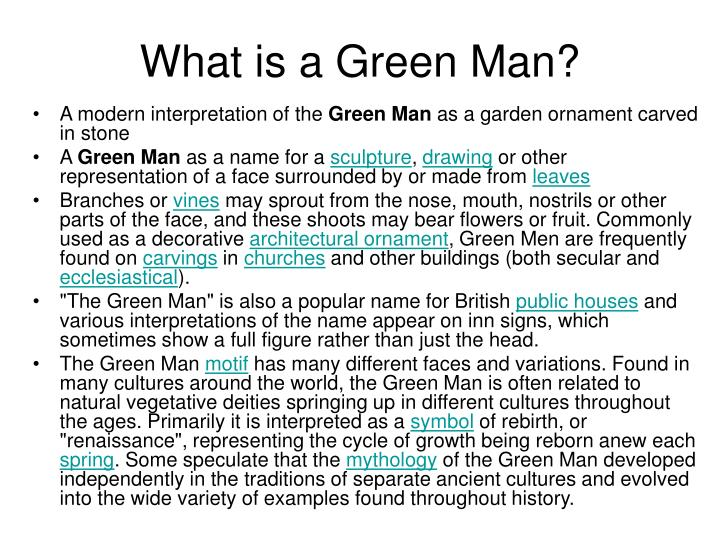 What is a green man