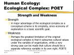 human ecology ecological complex poet17