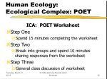 human ecology ecological complex poet18
