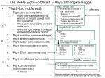 the noble eight fold path ariya atthangika magga