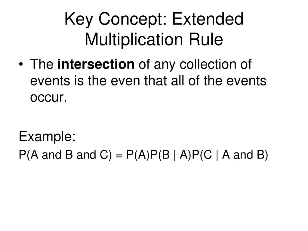 Key Concept: Extended Multiplication Rule