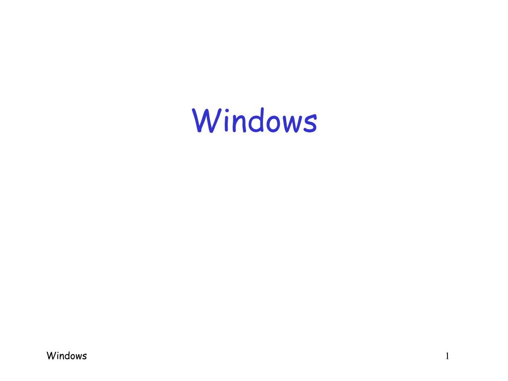 windows l.