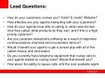 lead questions