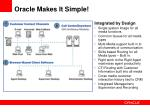 oracle makes it simple