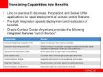 translating capabilities into benefits