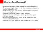 who is a good prospect
