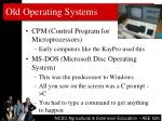 old operating systems