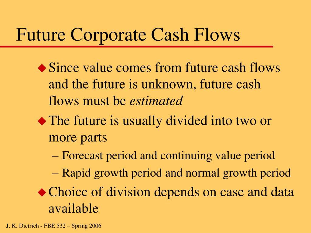 Future Corporate Cash Flows