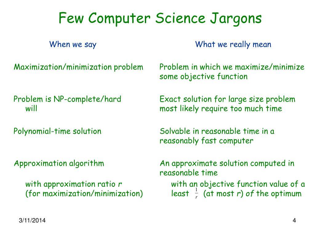 Few Computer Science Jargons