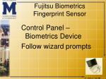 fujitsu biometrics fingerprint sensor