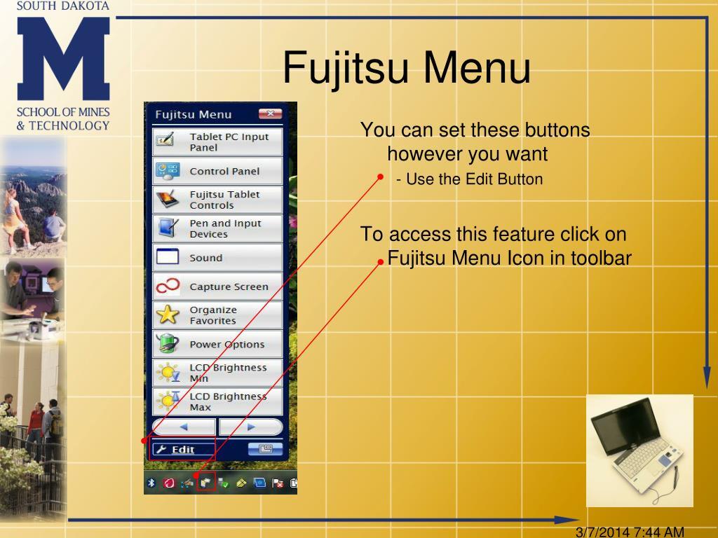 Fujitsu Menu