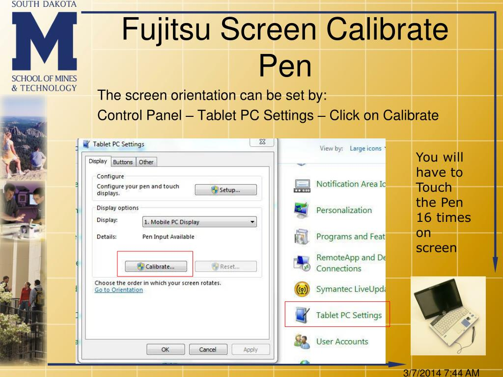 Fujitsu Screen Calibrate Pen