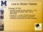 lost or stolen tablets